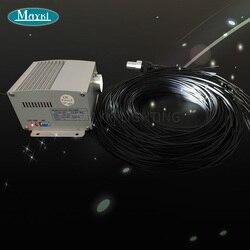 Maykit LED Lights do sauny ze źródłem światła 12V DC 105 Strand 1.5mm czarna powłoka koniec blask uprząż Dim pilot