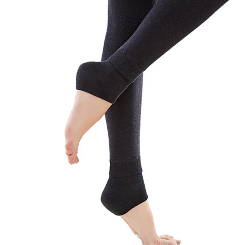 Women's Winter Plus Cashmere Leggings Fashion Big Size Warm Super Elastic Faux Velvet Winter Thick Slim Leggings 6