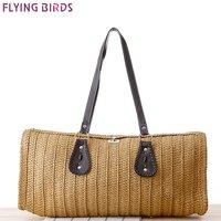 FLYING BIRDS Beach Bag Women Handbags Women Straw Bag Summer Style Handbags Bolsas Women S Bags