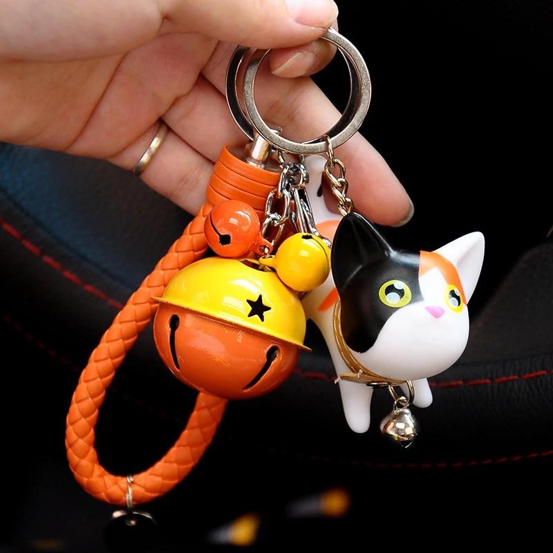 Schlüsselanhänger Playing Cat Katze Anhänger Schlüsselring Keyring Keyfob Deko