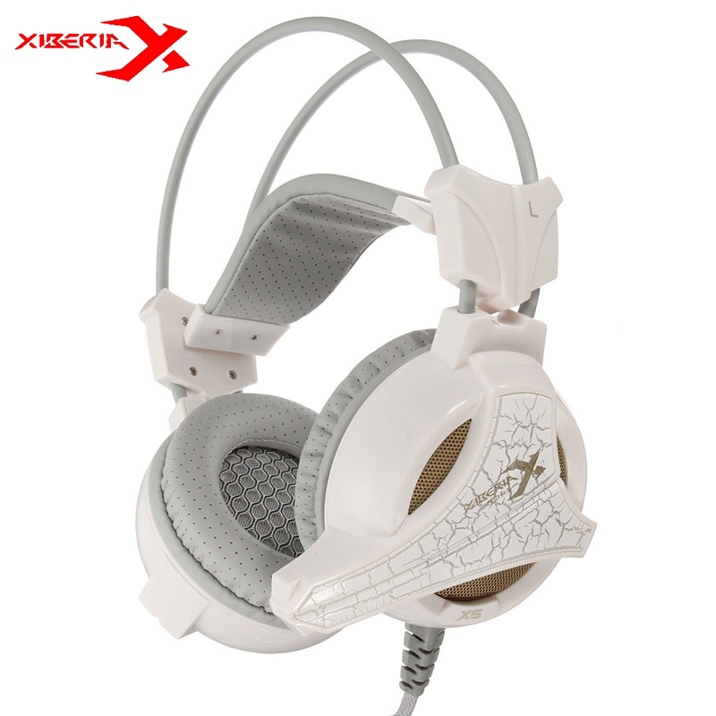 XIBERIA X5+ Vibration USB Gaming Headphones Stereo Surrounded Sound Deep Bass Over-Ear Headsets With Microphone For PC Gamer original xiberia v2 gaming headphones glowing led deep bass stereo headsets with microphone mic usb vibration pc gamer headset