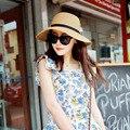 De Las Mujeres elegantes Sombreros de Sun Del Verano Sombrero de Playa Nuevo Estilo de Ala Ancha Dom Casquillo de la Paja Del Sombrero de Ala Ancha 2016 de La Venta Caliente
