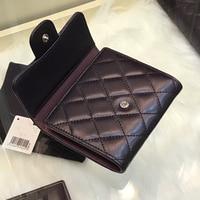 The New wallet Genuine leather women's wallet fashion money clip women purse Multiple colors Short triple fold free shipping
