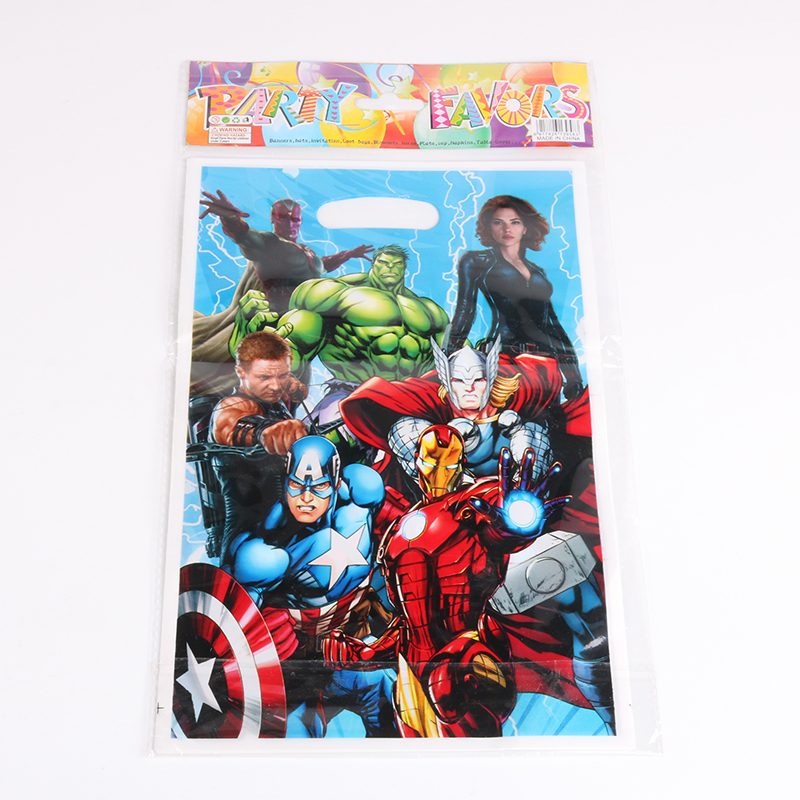 20pcs Super Hero Avengers Alliance Party Gift Bag Loot Bags Kids 1st Birthday Decoration Party Favor Birthday Party Supplies