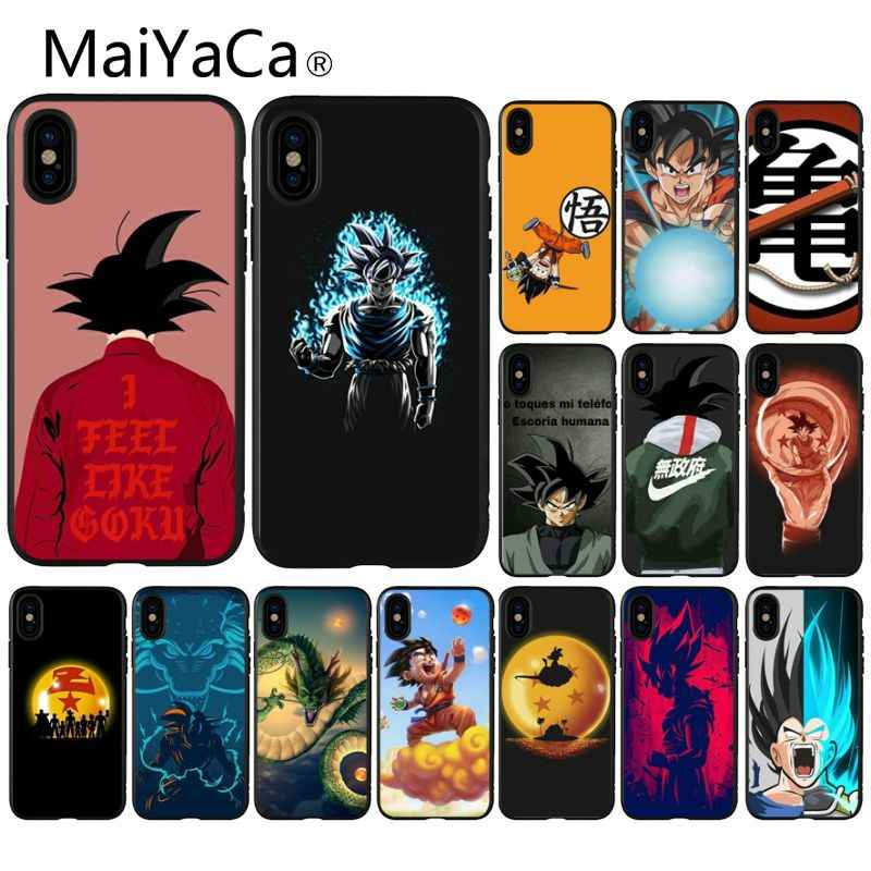 MaiYaCa Dragon Ball Z Super DBZ Goku Coque TPU Soft Black Phone Case for iPhone 8 7 6 6S Plus 5 5S SE XR X XS MAX Coque Shell