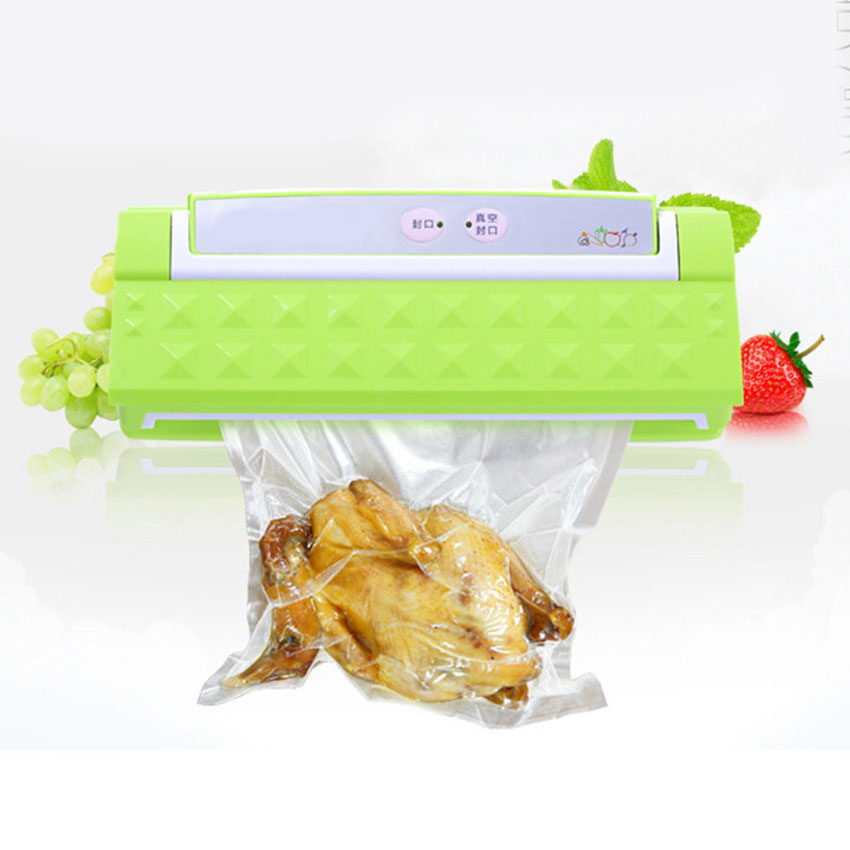 1pcs  Vacuum sealer work home packing products machine to save food at home,Fresh World household vacuum packaging sealing machine sealer wet and dry use 30cm 110w 220v