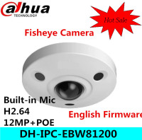 Original Dahua DH IPC EBW81200 12M Ultra HD Vandal Proof IR Network Fisheye Camera IP67 IPC