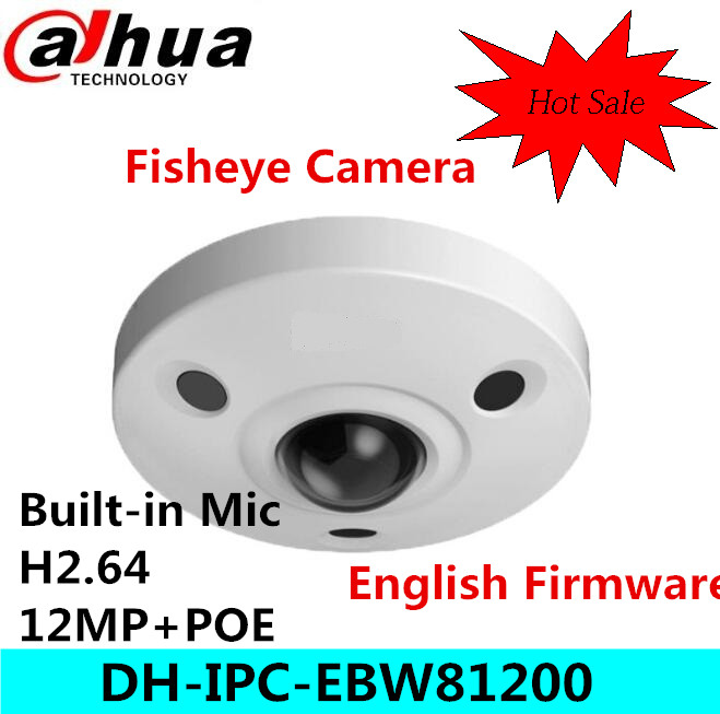 Original dahua DH-IPC-EBW81200 12M Ultra HD Vandal-proof IR Network Fisheye Camera IP67 IPC-EBW81200 dahua dh ipc hfw4421sp 0360b