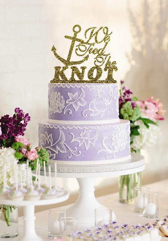 Alta qualità Glitter oro Wedding Cake Topper Anchor Design - Per vacanze e feste