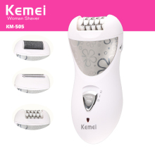 kemei epilator rechargeable 3 in 1 lady hair shaver electric
