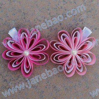 50 шт., цветочные бабочки-петельки, красивые лепестки, Цветочные заколки, Новые Цветочные заколки, смешанные цвета, бант для волос