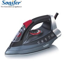 2200W Original Portable Electric Steam Iron For Clothes High Quality Ceramic soleplate Three Gears 220V Sonifer