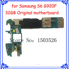 wholesale price S6 G920F 32GB original motherboard for Samsung 100% good working Europea version main board 3GB RAM Android 5.0