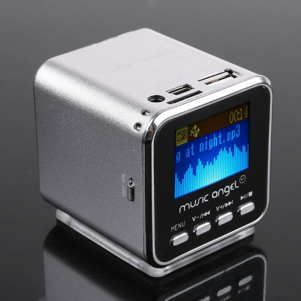 US $12 99  Mini Digital Portable Music MP3 Player USB Speaker FM Radio USB  Disk Micro SD TF card Support LCD Screen Speaker-in Portable Speakers from