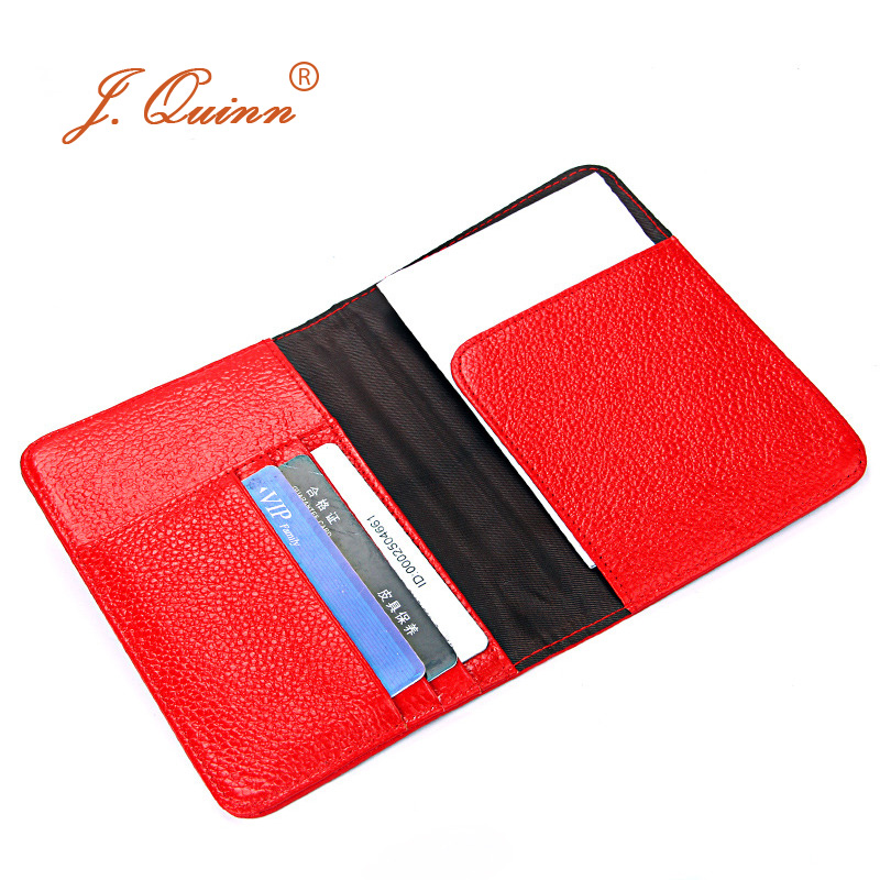 J.Quinn Passport Wallets Genuine Leather Slim Passport Case Travel Women Men Brand Soft Card Holder Cover Family Red 2017 New famous brand new passport card holder