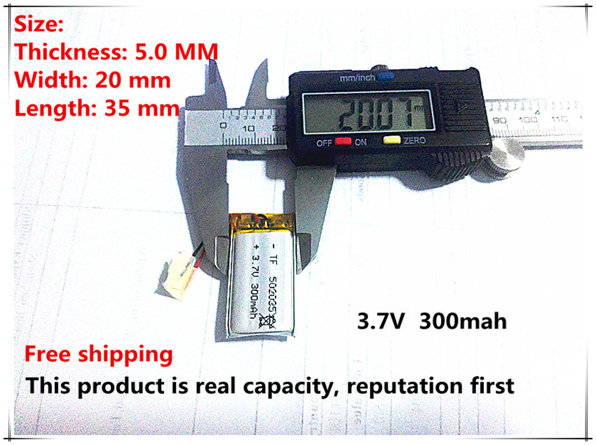 Free shipping 3.7V lithium polymer battery 052035 502035 mp3 recording pen point reading pen dedicated 300MAH