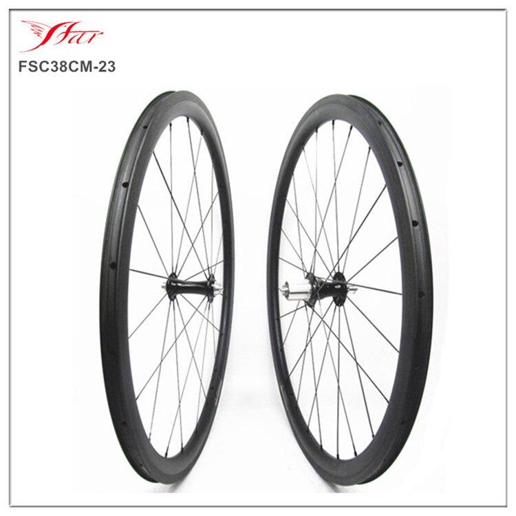 38mm x 23mm clincher tubeless ready Chris King hubs & Sapim cx-ray spokes , Farsports toray carbon bicycle wheels with 20h 24h natalia bazhanova a radiant life