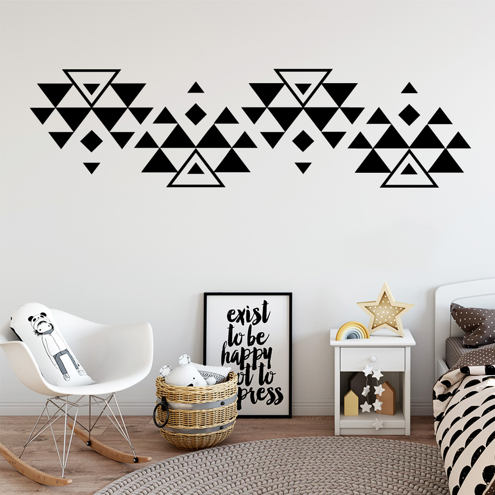 Drop Shipping Grid Wall Sticker Pvc Wall Art Stickers Modern Fashion Wallsticker For Baby Kids Rooms Decor adesivo de parede