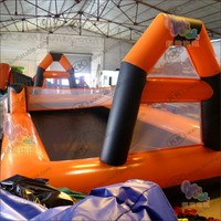 2018 New 0.55mm PVC tarpaulin hot sale Inflatable Sport Pitch Soccer Field Inflatable Football Field