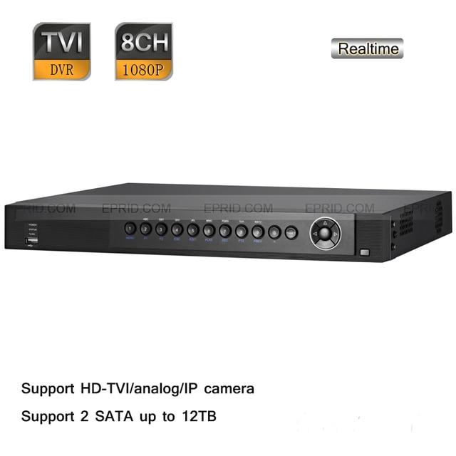 Original English DS-7208HQHI-SH Hik 8CH 1U Turbo 1080P Full Real-time TVR CCTV HD TVI/analog/IP Hybrid DVR