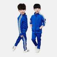 2017 Fashion Autumn Children Clothing Sets Baby Boys Girls Jacket Pants 2 Pcs Suits 3 8years