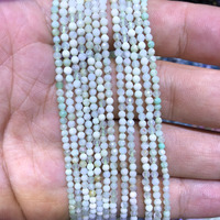 5 strings Lot Natural Green Opal Faceted Tiny Small Beads,Natural Beads 2mm 3mm Faceted Round Tiny Spacer Beads,15.5/str