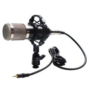 Image 3 - Profissional microfone bm 800 karaoke microfone condensador kits de microfone pacote microfone para gravação de estúdio computador
