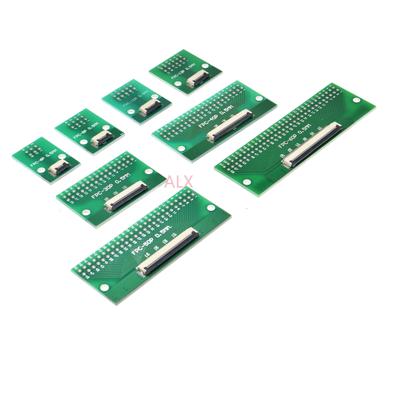 1Pcs 30 pin 0.5mm FFC FPC to 30P DIP 2.54mm PCB converter board adapter GK