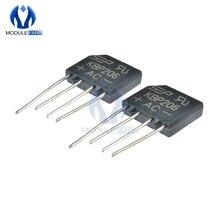 5 шт. Diy Электронный диодный мостовой выпрямитель 600 в 2A KBP206G KBP206 4PIN SIP-4 однофазный