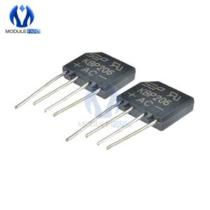 Bridge Rectifier Electronic-Diode Single-Phase 2a-Kbp206g-Kbp206 SIP-4 5pcs 600V 4PIN