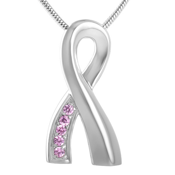 Pink Ribbon Urn Necklace