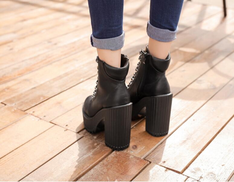 6a8b375e584199 Scarpe Zeppe Moda Da Donna Zapatos Quadrati Tacco Up Mujer Lace Nere  tUxwPzqR