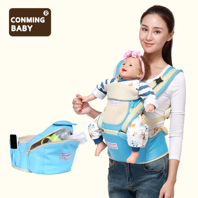 New 0-36 months 30kg storage kangaroo ergonomic hipseat baby carrier sling hip waist stool seat backpack wrap for newborns mom