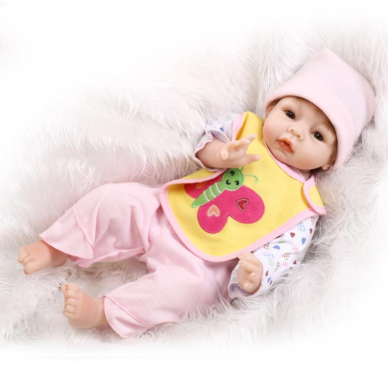 55cm Soft Silicone reborn baby doll toy for child lifelike newborn girls baby dolls birthday Children