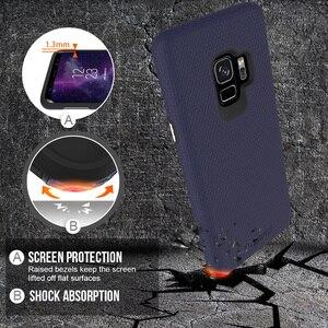 Image 3 - TOIKO X Bảo Vệ Điện Thoại 2 Trong 1 Trường Hợp Dành Cho Samsung Galaxy Samsung Galaxy S9 Chống Sốc PC Cứng Mềm Mại Ốp Lưng TPU Vỏ Bao Da bảo Vệ Hybrid Armor