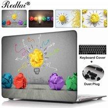 "Чехол для MacBook Pro 13 15 CD-ROM Pro Retina 12 13 15 ""творческой лампочка печати пластиковый футляр Air 11 13 про 13 15 TouchBar"