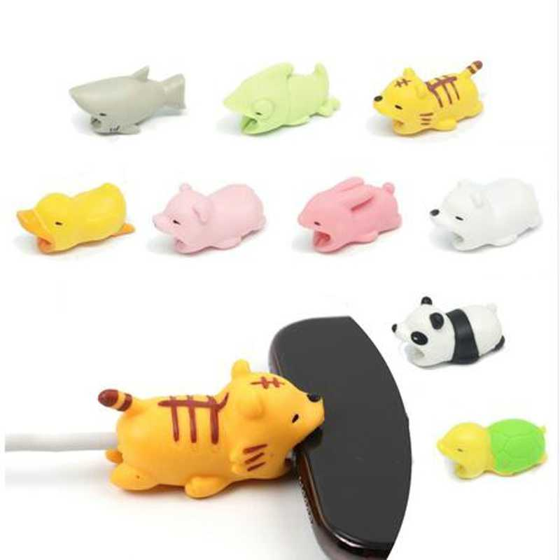 Cartoon Dier USB Kabel Protector Kabel Organizer Data Lijn Management Opladen Bescherming Kabelhaspel Voor iPhone iPad iPod