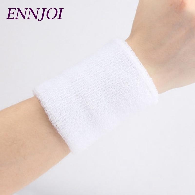 2PCS Protector Wristbands Sport Wrist Supports for Gym Tennis Weightlifting Sport Wrist Brace Sweatbands Cotton Wrists