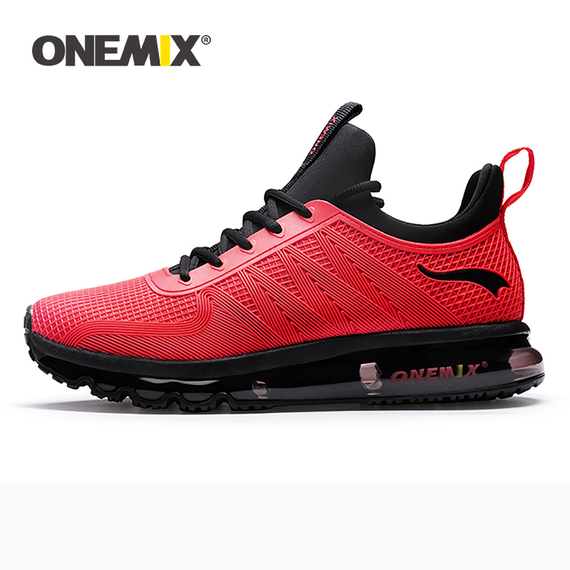 ONEMIX Men Running Shoes High Top Mesh Air Cushion Height Increasing Advanced Sneakers Outdoor Athletic Training