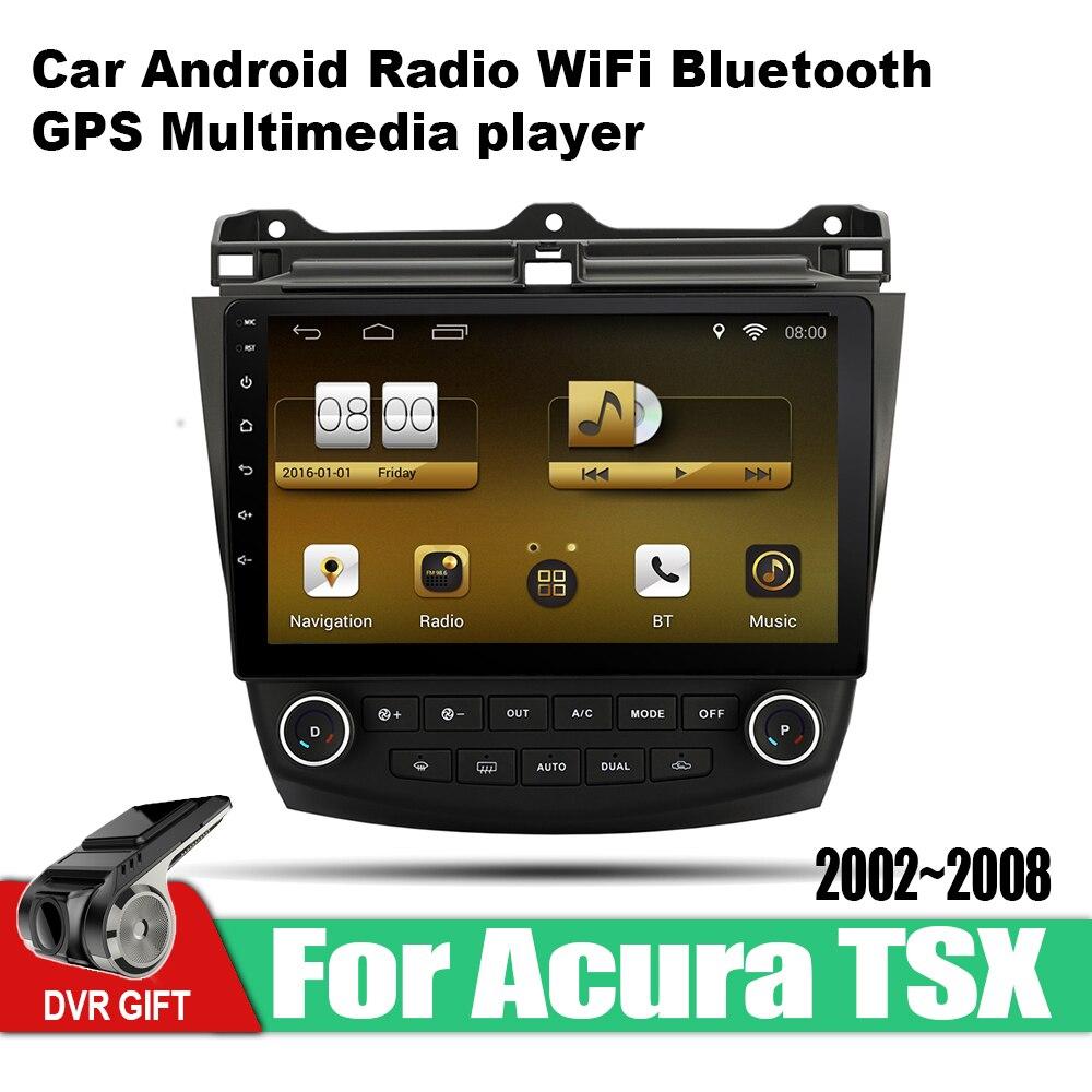 ZaiXi Android voiture GPS lecteur multimédia pour Acura TSX 2002 ~ 2008 voiture dvd Navigation radio vidéo Audio voiture lecteur WiFi Bluetooth
