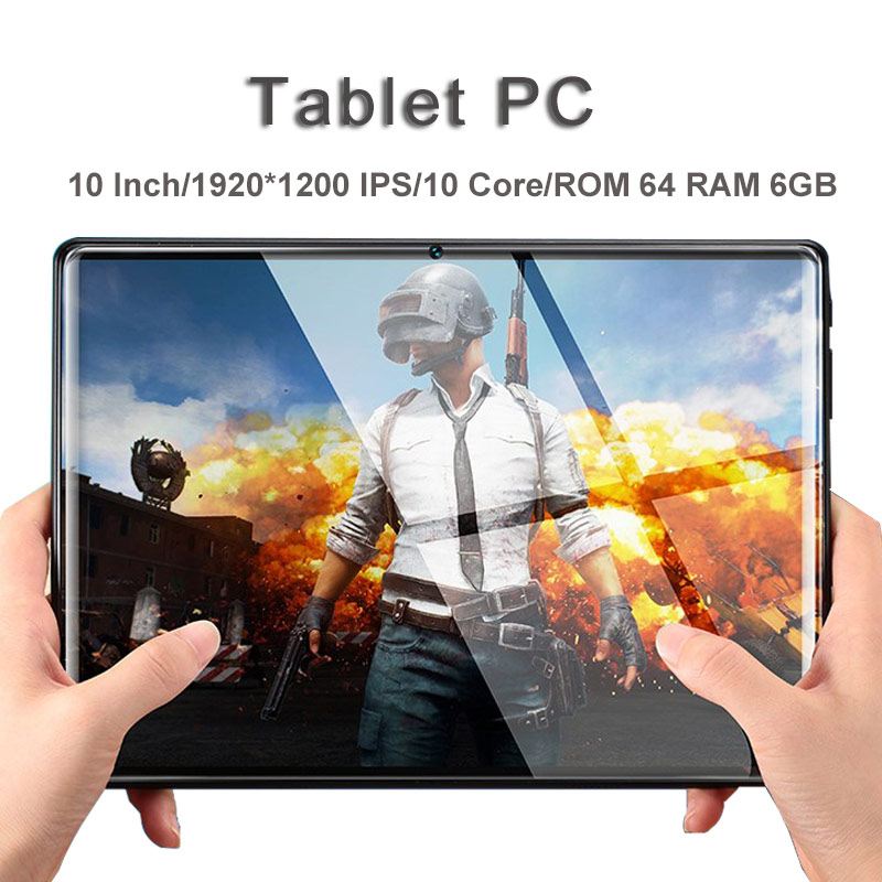Hot 10 Inch Tablet Pc Android 8.0 10 Core 6GB RAM 64GB ROM 1920*1200 IPS WIFI 2 SIM 3G 4G FDD LTE Phablet GPS Tablets Pc 10 10.1