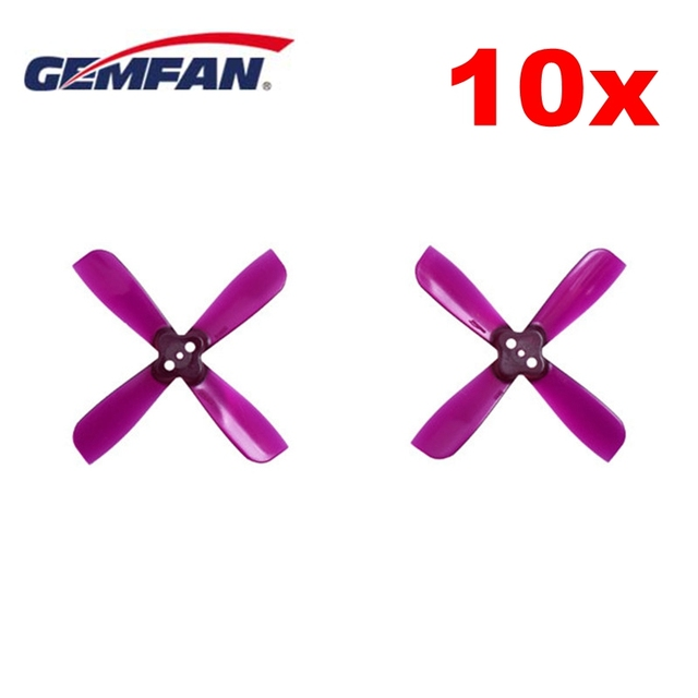 10 Pairs Gemfan 2035 2X3.5X4 4 Blade Propeller Prop 1.5mm Mounting Hole CW CCW Blue Purple Transparent for FPV RC Racing Drone