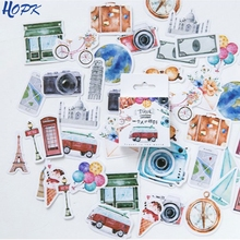 46 pcs/Set One Person Travel Planner Stickers Scrapbooking Journal Stickers Cute Kawaii DIY Decoration Diary Stationery diy stickers travel note kawaii stickers for diary scrapbooking notebook greeting card decoration