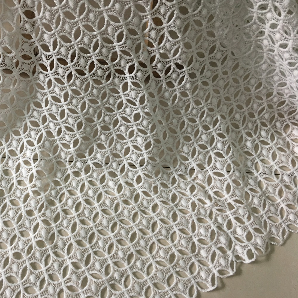 5y 2018 Latest Nigerian Lace Fabrics For Wedding Dress High Quality White African Embroidery Guipure Milk Silk Cord Lace Fabrics-in Lace from Home & Garden    1
