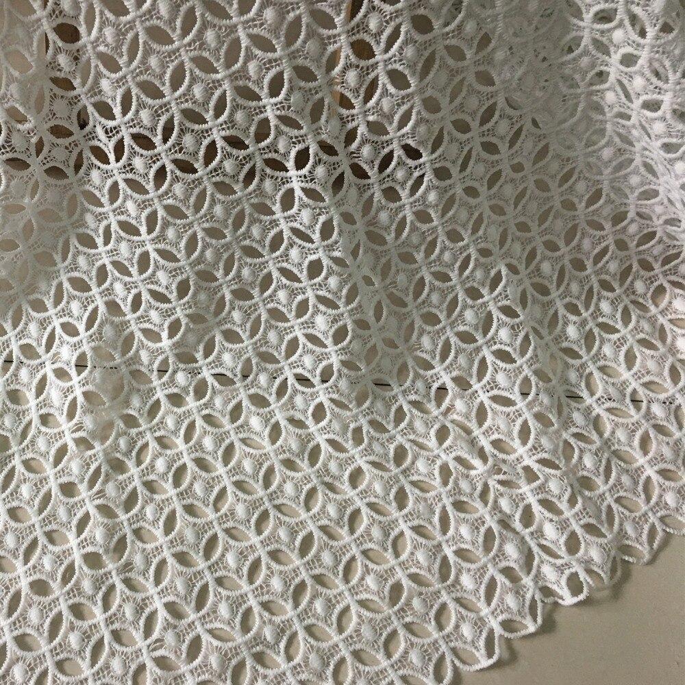5y 2018 أحدث النيجيري أقمشة الدانتيل ل فستان الزفاف عالية الجودة الأبيض الأفريقي التطريز جبر الحليب الحرير الحبل أقمشة الدانتيل-في دانتيل من المنزل والحديقة على  مجموعة 1