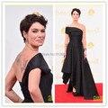 2016 Emmy Red Carpet lena-headey-peter-dinklage Dress Sleeveless A-line One Shoulder Long Celebrity Dresses