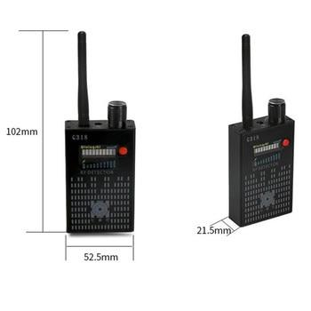 Professionelle 1500 mAh Batterie Super RF WiFi Bluetooth GSM DECT Anti Spy Drahtlose Sicherheit Alarm Bug Metall RF Detektor G318