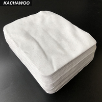 Kachawoo 175mm*145mm 100pcs Grey Sunglass Cleaning Cloth Suede Microfiber Lens Cleaning For Glasses Accessories Sea Island