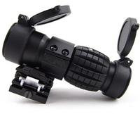 Compact Tactical 3X Magnifier Scope with Flip Sight for 20 mm guns Rifles rake