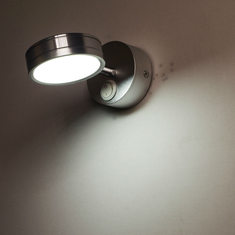 Led Lamps Modern Simplicity Led Wall Lamps Silver Bedroom Bedside Lamp Childrens Reading Corridor Light Direction Adjustable 5w Ac90-260v Lights & Lighting
